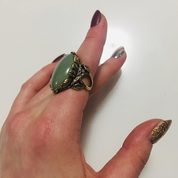 Choi Jewelry - green and bronze ring